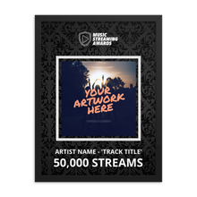 Load image into Gallery viewer, 50K Music Streams Framed Award