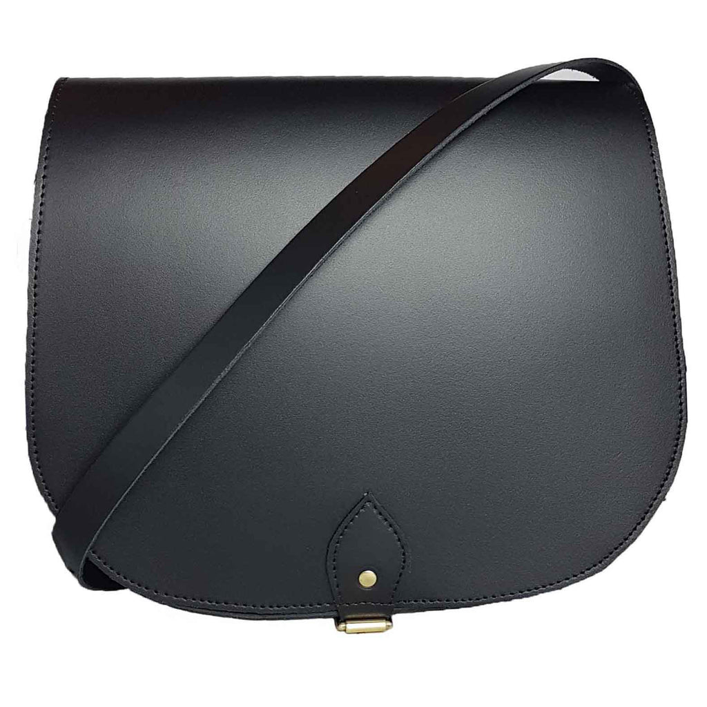 Large Black Saddle Bag