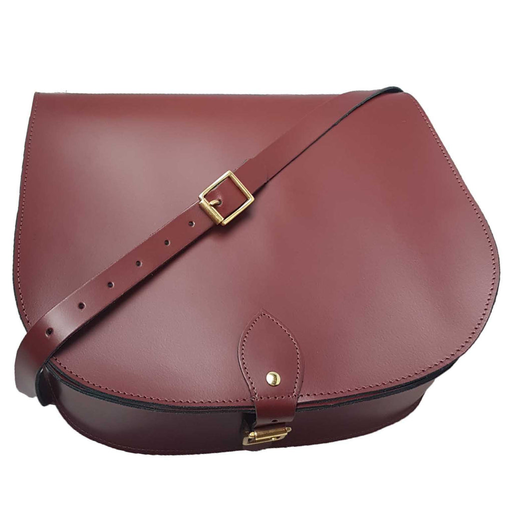 Large Oxblood Saddle Bag