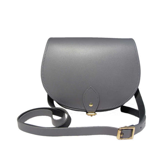 The Pencil Grey Saddle Bag
