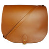 Large Tan Leather Saddle Bag SAMPLE