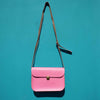 Pink Mini Leather Satchel