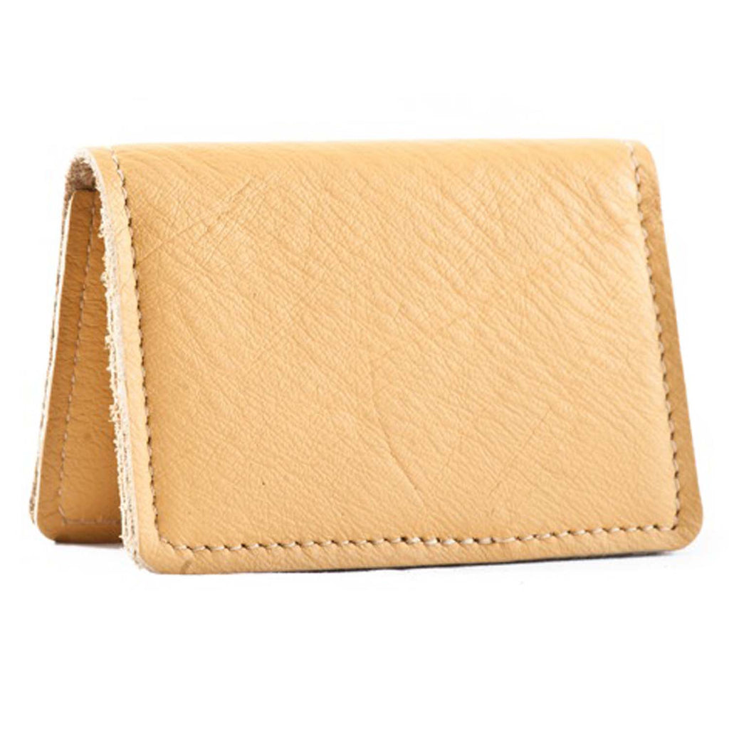 Bishopsgate Soft Yellow Leather Card Holder
