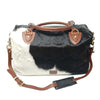 Regency Calf Fur Leather Travel Bag Sample