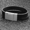 Wide Leather Bangle Bracelet