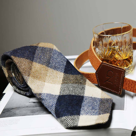 Regent Blue Wool Neck Tie