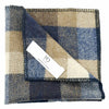Regent Blue Wool Pocket Square