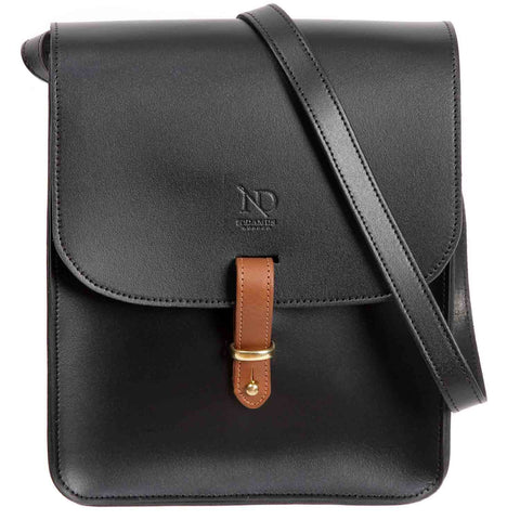 Elizabeth Black Satchel Cross Bag