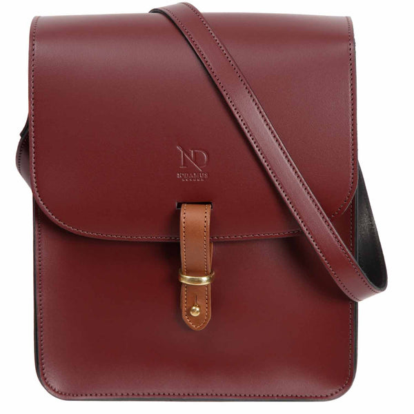 Elizabeth Oxblood Satchel Cross Bag