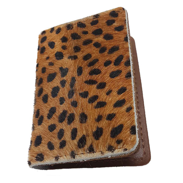Bishopsgate Cheetah Print Leather Card Holder