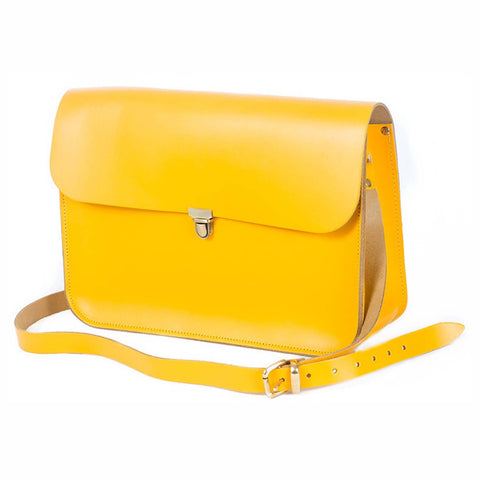 Yellow Leather Satchel Bag sample