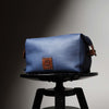 Sloane Blue Leather Toiletry Case