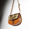 Mini Victoria Amaka Leather Saddle Bag sample