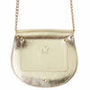 Mini Victoria Gold Full Grain Leather Crossbody Saddle Bag