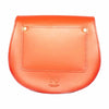 Mini Victoria Orange Leather Saddle Bag