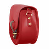Mini Victoria Red Leather Chain Saddle Bag