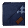 Regent Navy & Sky Blue African Print Pocket Square