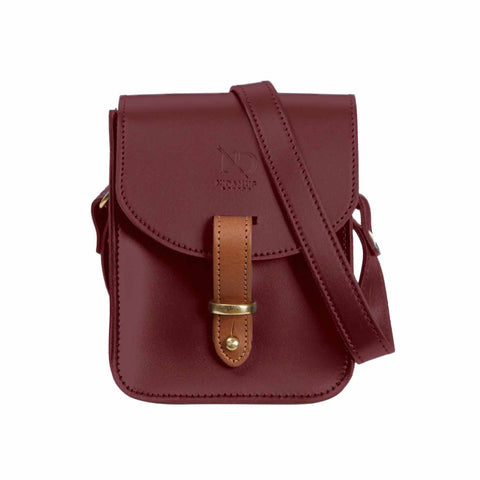 Elizabeth Oxblood Mini Satchel