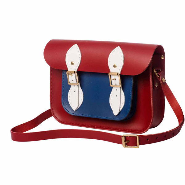 Red British Mini Pocket Satchel