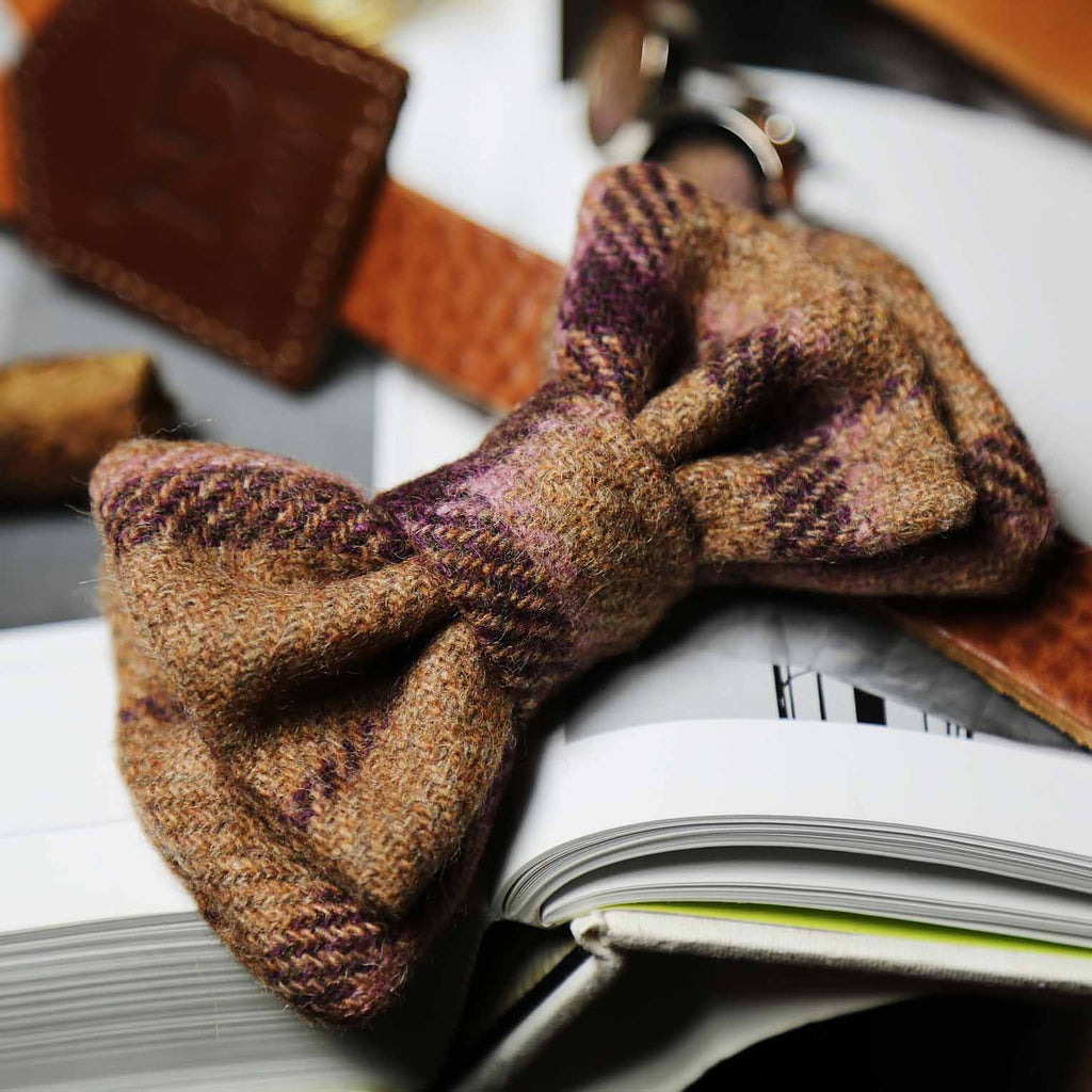 Regent Tan Wool Bow Tie
