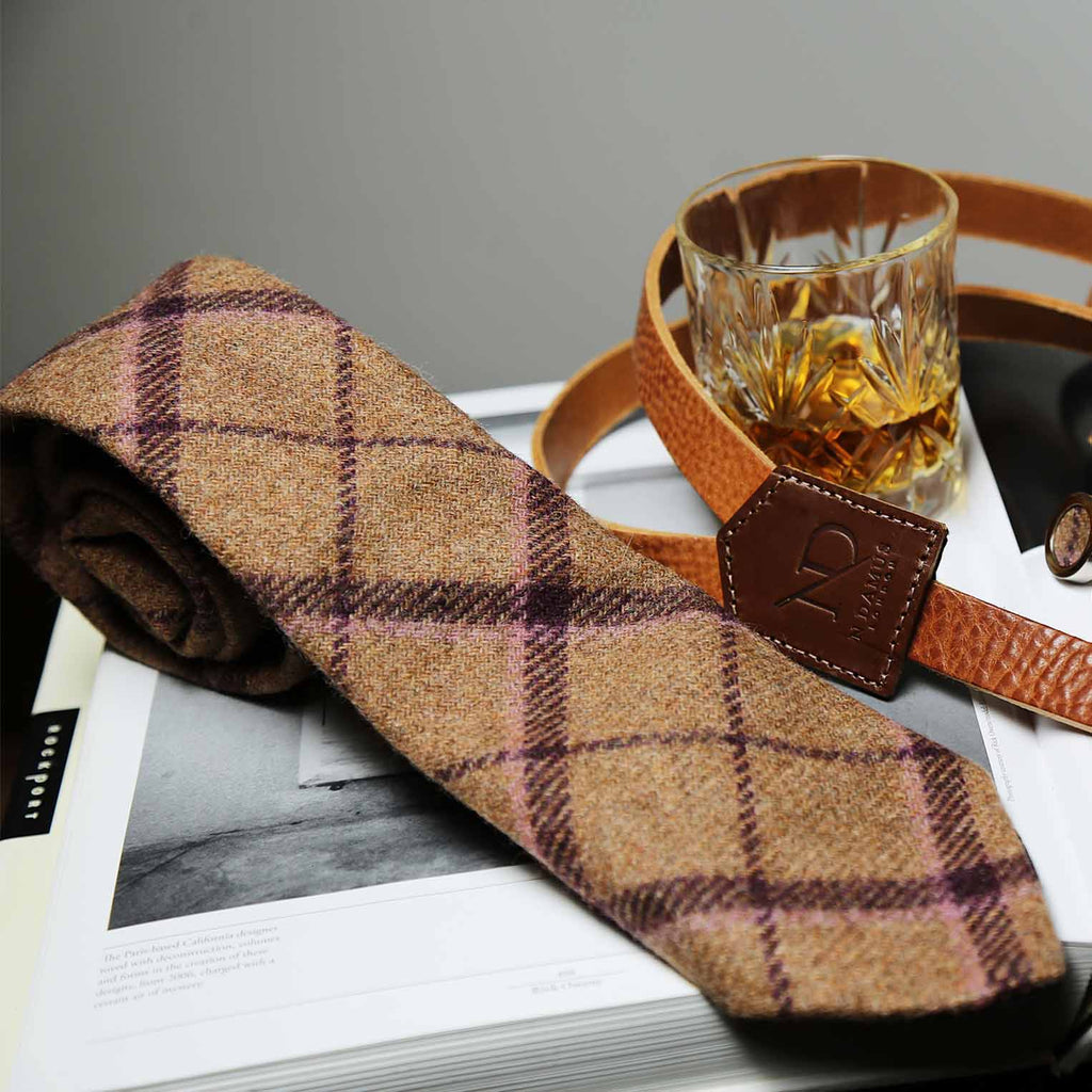 Regent Tan Wool Neck Tie