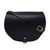 Black Saddle Bag With Pocket