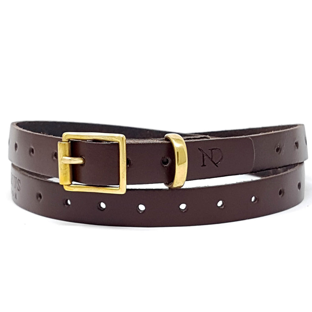 Carnaby Brown Leather Skinny Belt