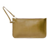 Eloise Olive Green Leather Clutch Bag