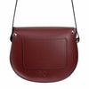 Oxblood Saddle Bag With Pocket