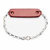 Radius Red Leather & Sterling Silver Bracelet