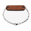 Radius Dark Tan Leather & Sterling Silver Bracelet