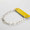 Radius Yellow Leather & Sterling Silver Bracelet