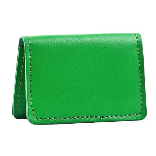 Bishopsgate Emerald & Tan Leather Card Holder