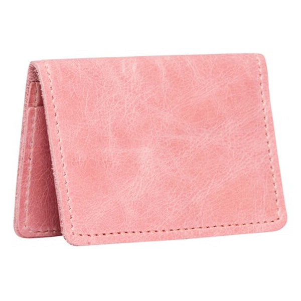 Bishopsgate Pink Leather Card Holder