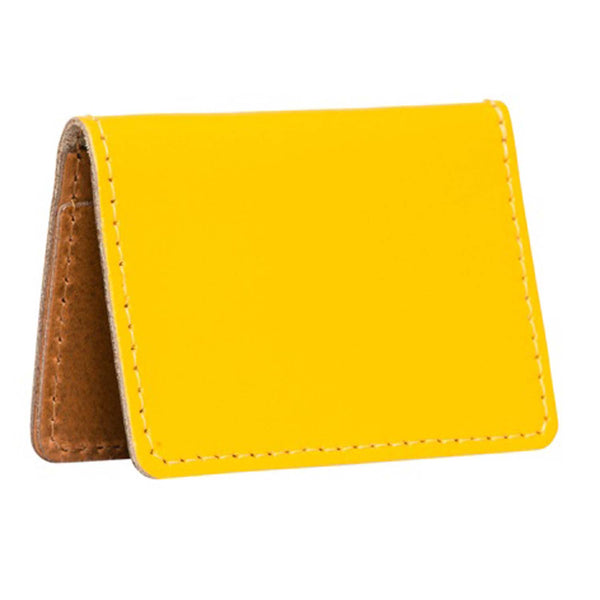 Bishopsgate Yellow Leather Card Holder