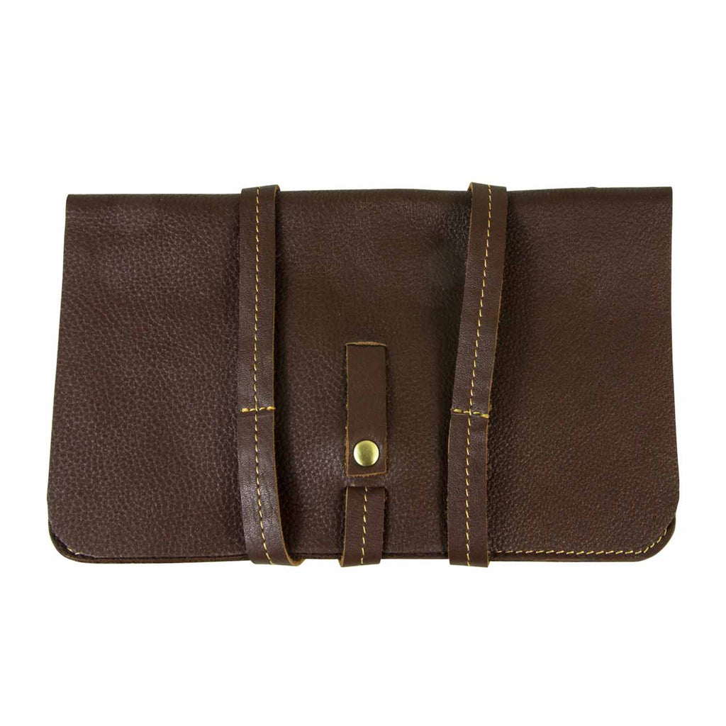 Brown iPad Mini Sleeve with Leather Rope