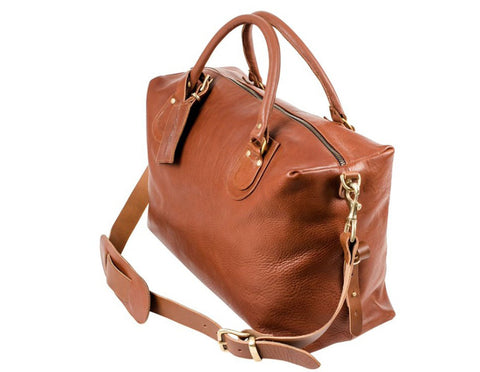 Regency Dark Tan Brown Travel Bag