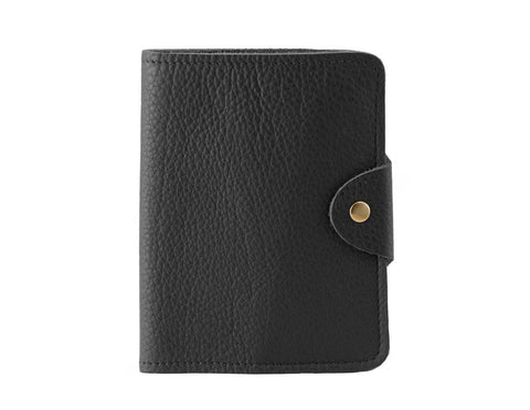 Passport Cover Black Grain