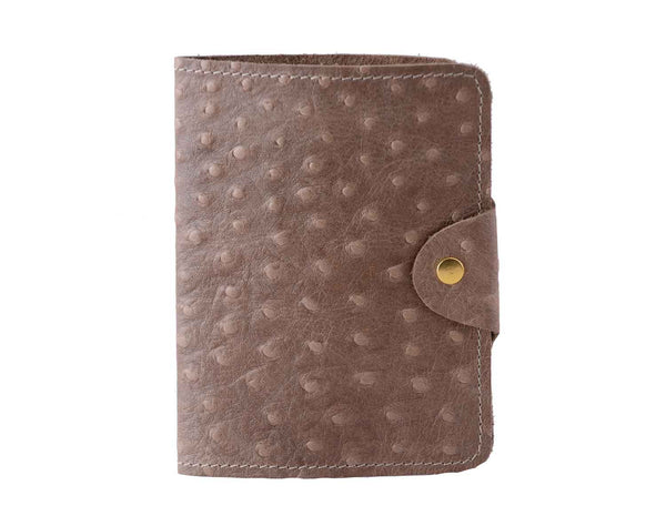 Passport Cover Ostrich Print