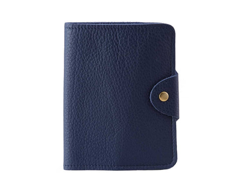 Passport Cover Blue Grain