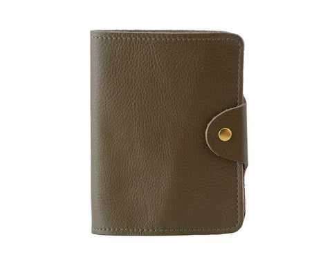 Passport Cover Olive Grain