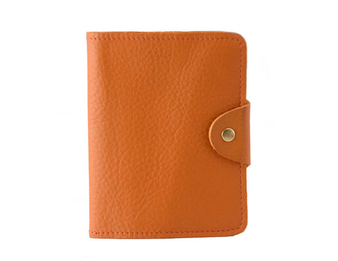 Passport Cover Orange Grain