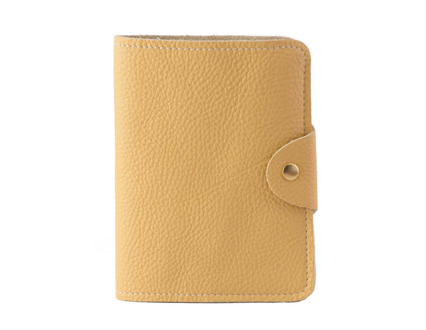 Passport Cover Yellow Grain