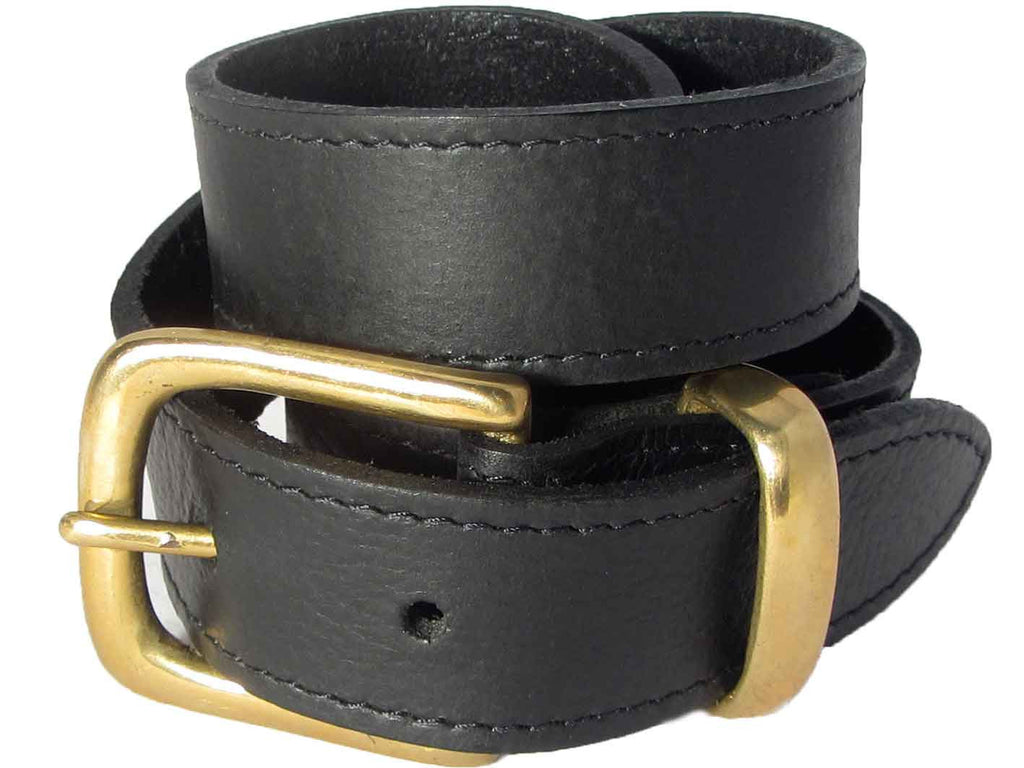 Lady Orion Black Belt with Gold Buckle luxury leather