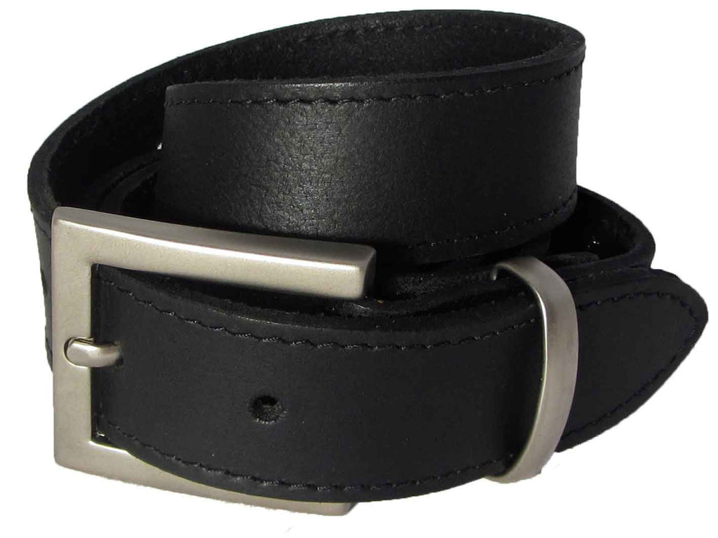 Lady Orion Black Belt with Silver Buckle luxury leather