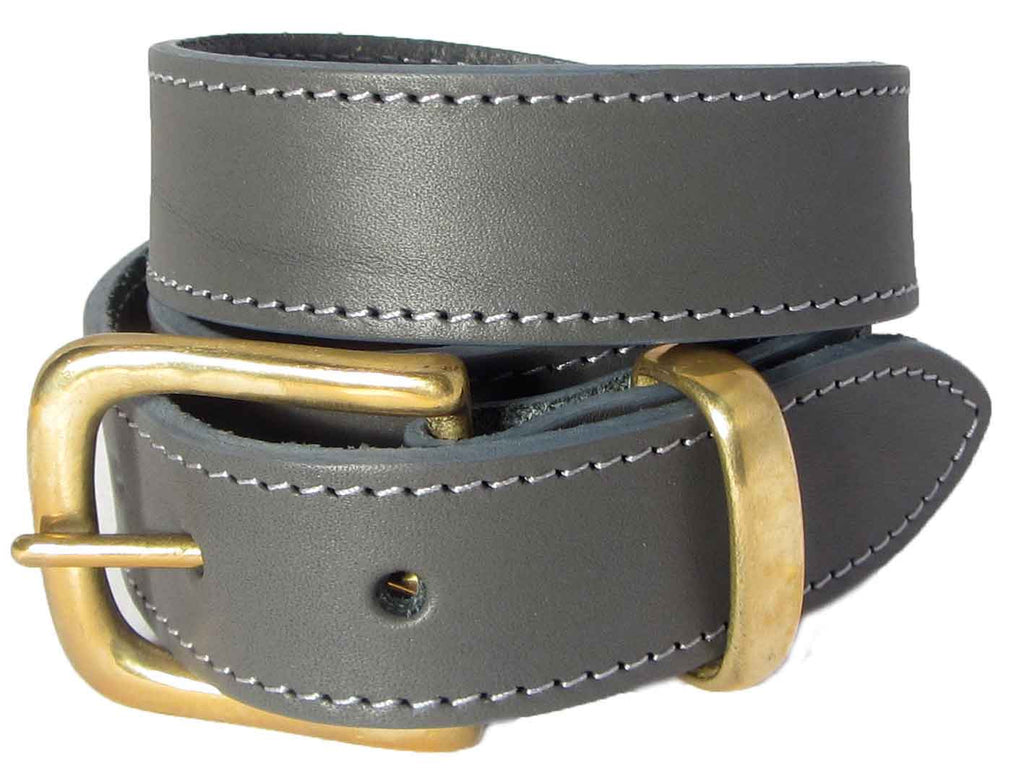 9e70ba4d2a7bf Lady Orion Grey Belt With Gold Buckle luxury leather