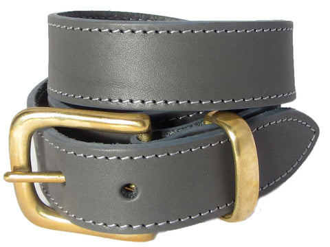 Lady Orion Grey Belt With Gold Buckle luxury leather
