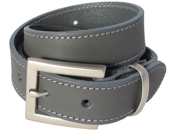 Lady Orion Grey Belt With Silver Buckle luxury leather