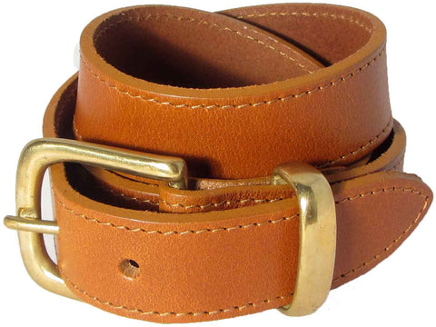 Orion Tan Belt with Gold Buckle
