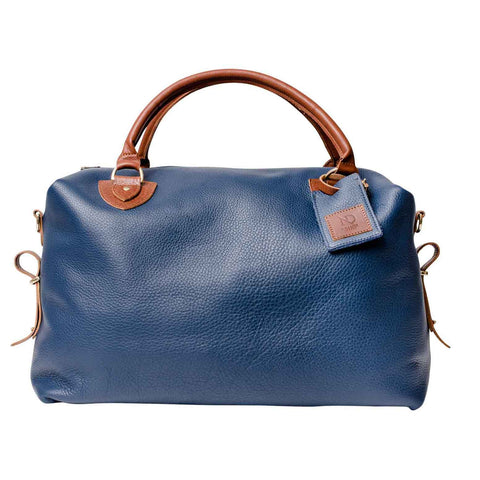 Regency Blue Leather Travel Bag SAMPLE